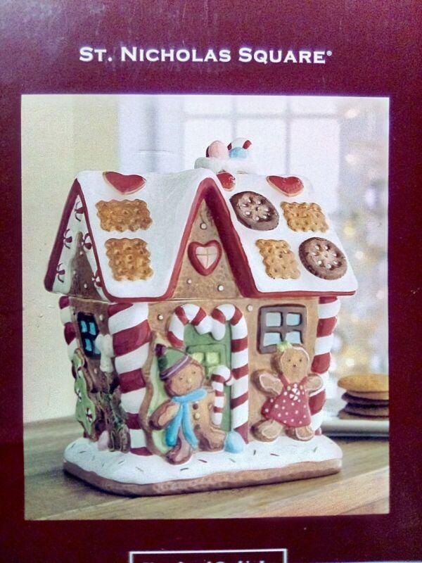 St. Nicholas Square ® Gingerbread House Cookie Jar