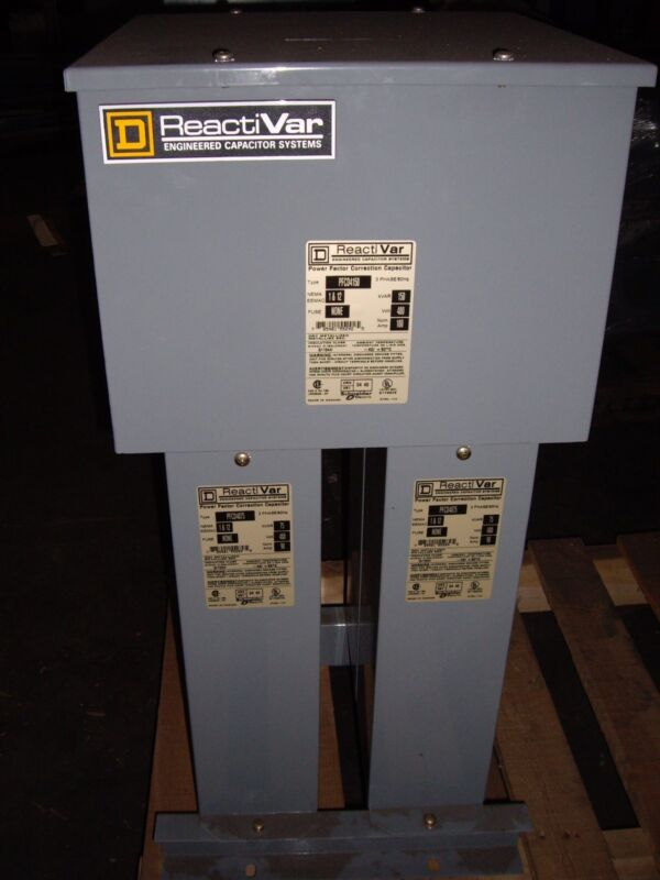 SQUARE D POWER FACTOR CORRECTION CAPACITOR , PFCD4150/PFCD4075 , (W2)