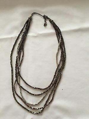 "Necklace w/Mixed Beads & Lengths - Smallest 15"" w/Extensions"