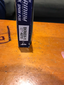 Brand new iridium ix spark plugs