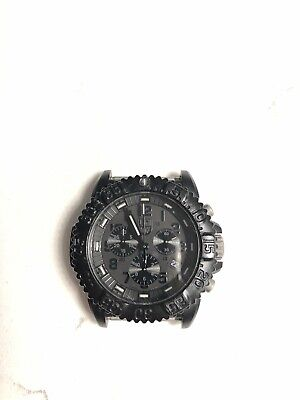 LUMINOX Navy Seal Colormark Chronograph Blackout Watch series 3080. Used
