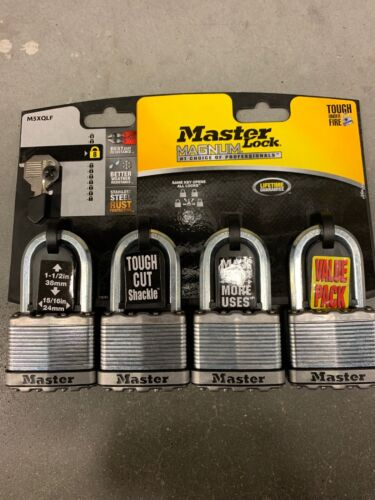 Master Lock M5XQLF Magnum Padlock and Keys Ball bearing lock