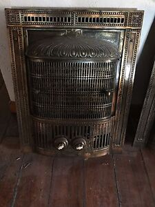 Antique electric fireplace insert
