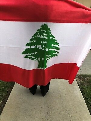 LEBANESE Flag Fleece BLANKET 50