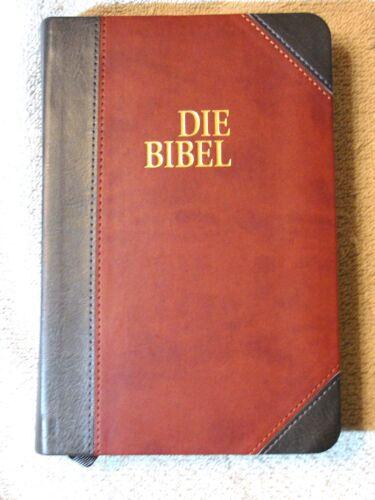 German Bible, Die Bibel, Schlachter 2000, Imitation Leather, Brown Black 2-toned
