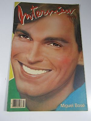 Interview magazine- 1983 Miguel Bose -Andy Warhol-AMAZING CONDITION!