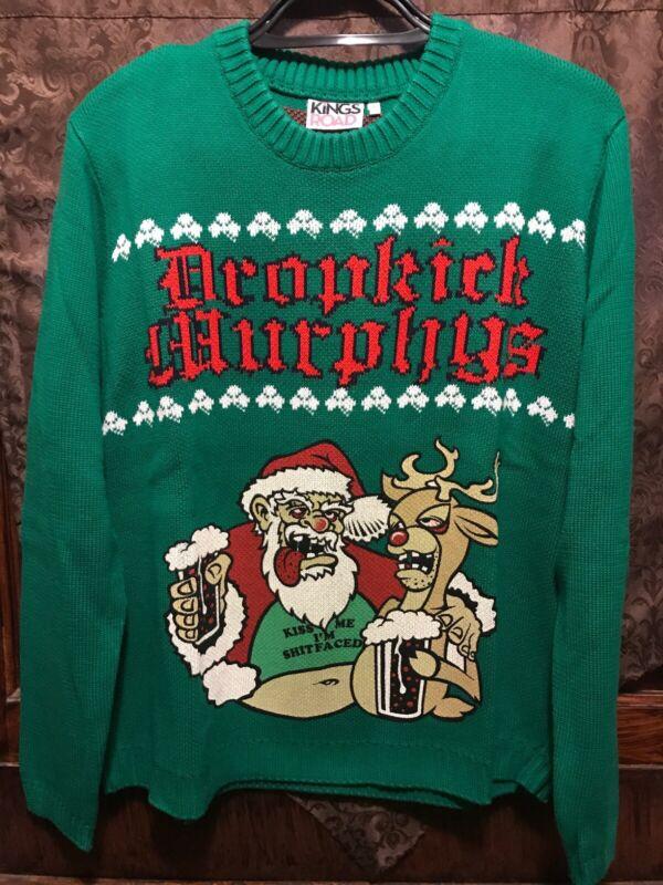 DROPKICK MURPHYS ~ XL ~ Shitfaced SANTA MERRY CHRISTMAS U BASTARDS UGLY Sweater