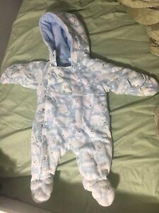 Manteau d'hiver pour nouveau-né 0-3 mois