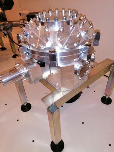 High vacuum chamber w loadlock, gate valve, xy stage. New (i.e. forSEM retrofit)
