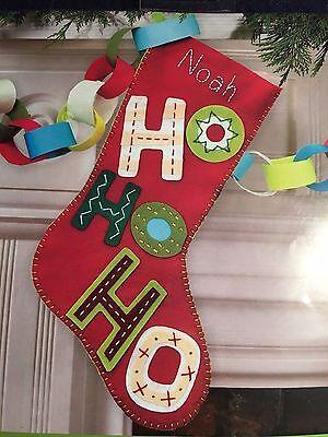 Dimensions EASY Felt Appliqué MYO Christmas Stocking Kit DIY HO HO HO - Diy Stockings