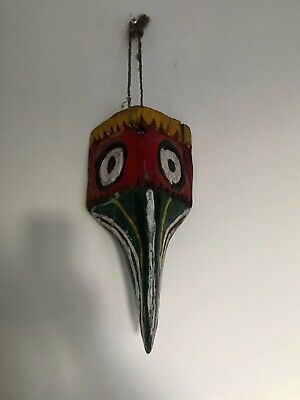 Antique/vintage carved wooden hand painted  mask