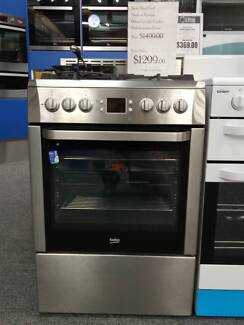 Beko 60cm Stainless Steel Dual-fuel Free Standing Cooker 50% OFF