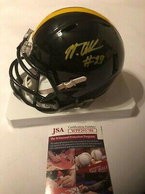 5065ed6852a Marcus Allen Autographed Pittsburgh Steelers Speed Mini Helmet JSA Witness  COA
