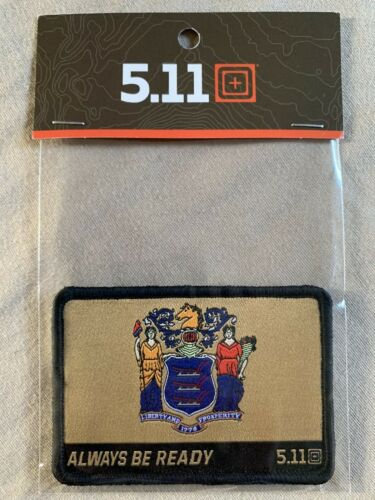 5.11 TACTICAL New Jersey State Flag Patch HOOK/LOOP RARE LIMITED EDITION
