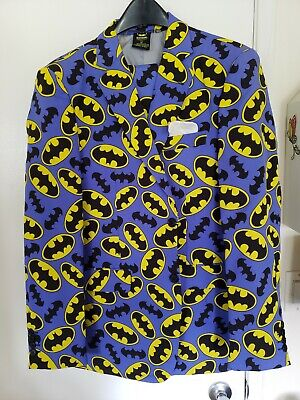 Batman Purple & Yellow Cosplay Costume Outfit Suit Tuxedo Full Set Size 42