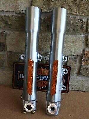 L/&R Side Chrome Lower Front Fork Leg Covers For Harley 2000-13 Model Pair