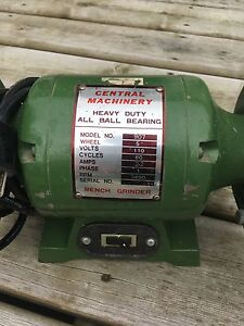 """Central Machinery 5"""" Bench Grinder"""