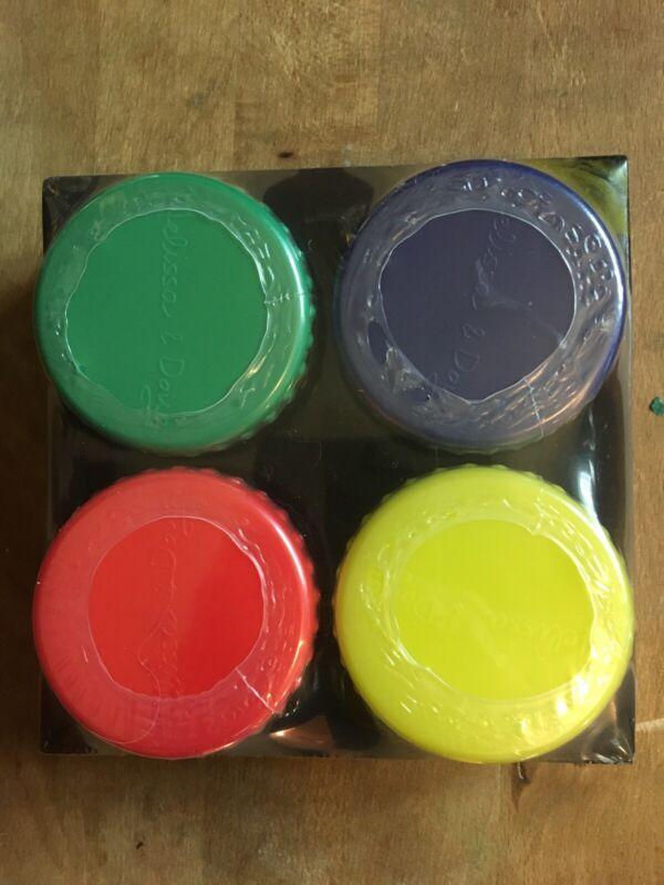 Melissa & Doug Washable Finger Paint Set - 4 Colors - Snap-On Lids - 4146
