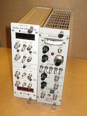 Montedel 8192 Adc Mod 8215 100mhz Time Interval Meter Nim Bin Module Plug In
