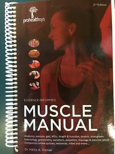 MUSCLE MANUAL 2ed ProHealthSys Evidence-Informed Mountain Creek Maroochydore Area Preview