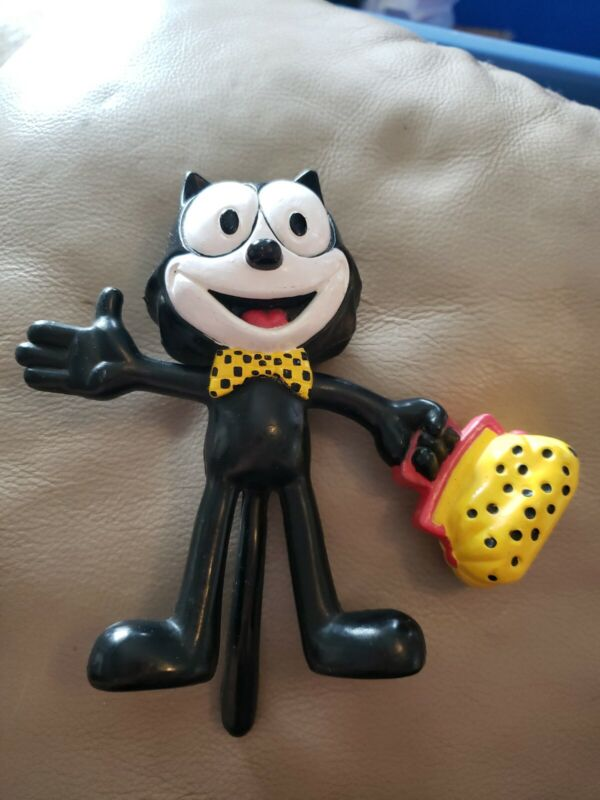 Vintage 1988 Hard Plastic Felix The Cat Figure by Applause