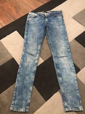 Zara Acid Wash Skinny Jeans Size 10