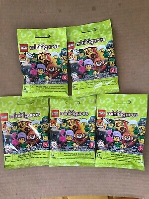LEGO SERIES 19 Minifigures Blind Bag Lot of 5 Five Brand New & Sealed 71025 LEGO