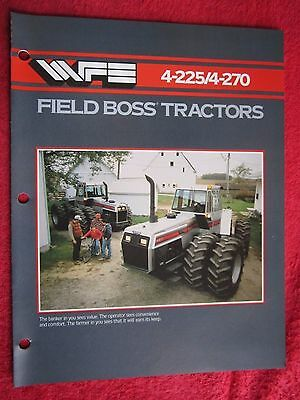 1984 White 4-225 4-270 Field Boss Tractor 8 Page Brochure