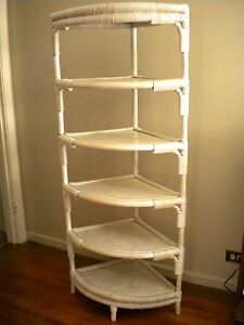 Wicker Corner Shelf unit