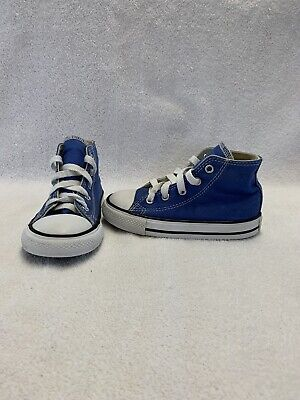 Converse All Star Chuck Taylor Toddler Boys Oxygen Blue Hightop Shoes~size 8 C