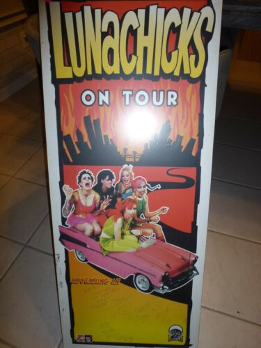 "RAre LUNACHICKS signed POSTER  ON Tour 37"" x 15"""