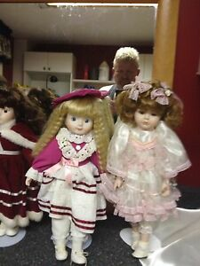 11 collectible dolls