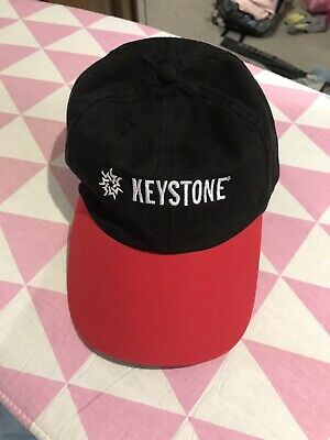 KEYSTONE USA Adjustable Adult Hat Cap Red Black Great Condition