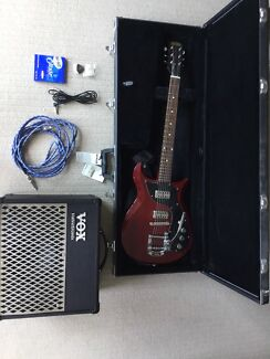 Electric guitar & Amp (Gretsch Electromatic)