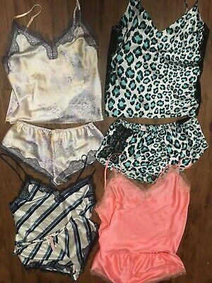 Lace Cami Set (Victoria Secret SEXY SATIN CAMI LACE Pajama Set XS S M L XL pj camisole shorts)