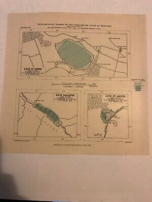 Loch of Skene / Loch Callater / Loch of Aboyne - Dee Basin (24 X 24cm)