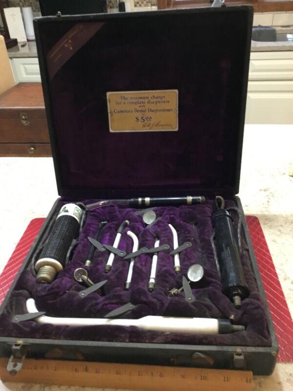 Vintage Camerons Dental Diagnostoset Transilluminator Dentistry