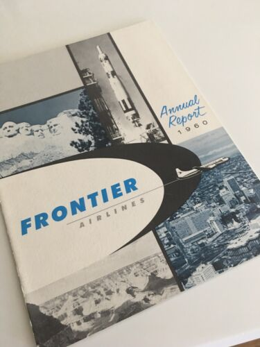 Frontier Airlines 1960 annual report