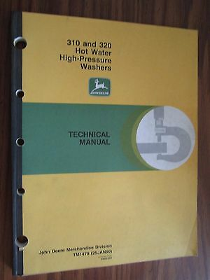John Deere 310 320 Hot Water High Pressure Washer Technical Repair Manual