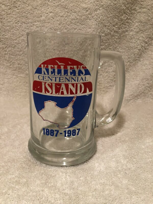 Kellys Island Ohio Centennial 1987 glass beer mug R1