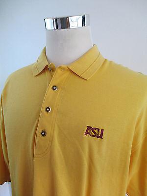 Men's Antigua ASU Sun Devils Yellow Polo Shirt Sz Large Antigua Arizona State (Antigua Sun)