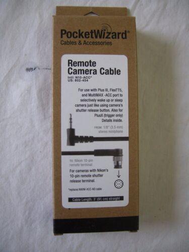 """Pocket Wizard 802-454 N10-ACC Nikon 10 Pin Camera Cable  """"NEW"""", 802454"""