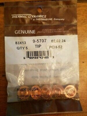 Thermal Dynamics 9-5707 Tip For Pch-52 83x13 5 Pk