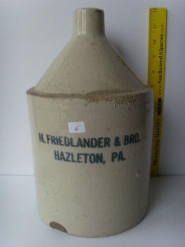 "Antique ""Hazleton PA"" gallon Pottery Jug 11½"" ~1880-1915 48/6"