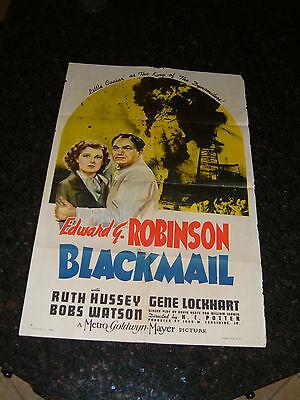 "BLACKMAIL Original (1sh) 1939 Movie Poster, 27"" x 41"", Style C, C6 (Fine)"