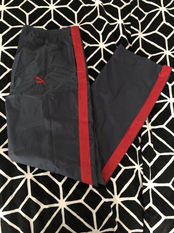 "Vintage Puma Savannah Windbreaker Pants Gray / Red "" BEAT STREET "" Size XL"