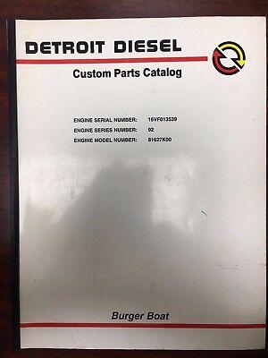 Detroit Diesel Series 92 , Burger Boat , Custom Parts Catalog