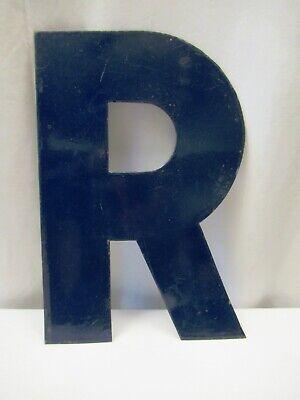 """Vintage Metal Enamel Letter R Advertising Sign Porcelain Petrol Pump Gasoline""""10"""