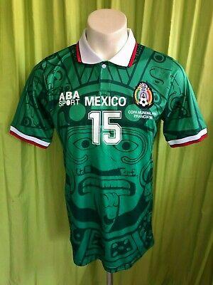 c93cb9f73 M 1998 REPLICA MEXICO SOCCER JERSEY FUTBOL SHIRT CLUB AMERICA CHIVAS PUMAS  AZUL