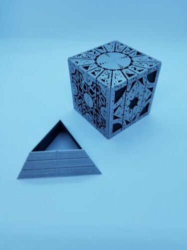 Hellraiser Inspired Puzzle Box Lament Configuration - Silver with Stand